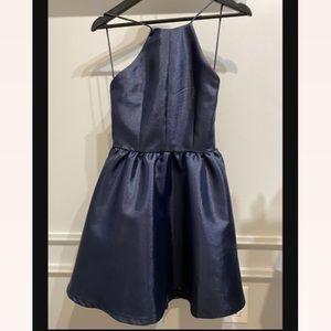 Chelsea navy blue mini dress